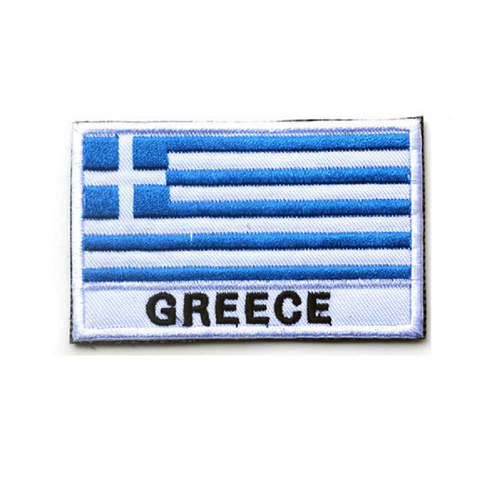 Ten piece a lot 3D embroidery armband Greece Flag patch Green American flag The flag of Czech embroidery armband Color chapter
