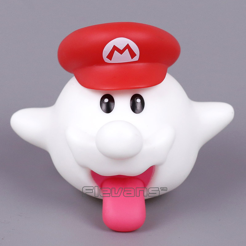 Super Mario Bros Boo Beyaz Hayalet Mini PVC Action Figure Koleksiyon Model Oyuncak 7 cm