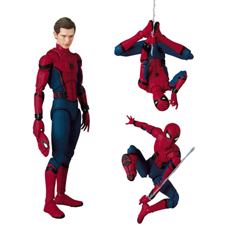 047 Örümcek-Adam Homecoming Spiderman Tom Hollanda PVC Action Figure Koleksiyonu Oyuncak 15 CM