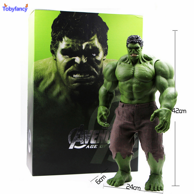 Tobyfancy Avengers Action Figure Incredible Hulk Iron Man Hulkbuster Ultron Yaş 42 CM PVC Koleksiyon Model Oyuncak