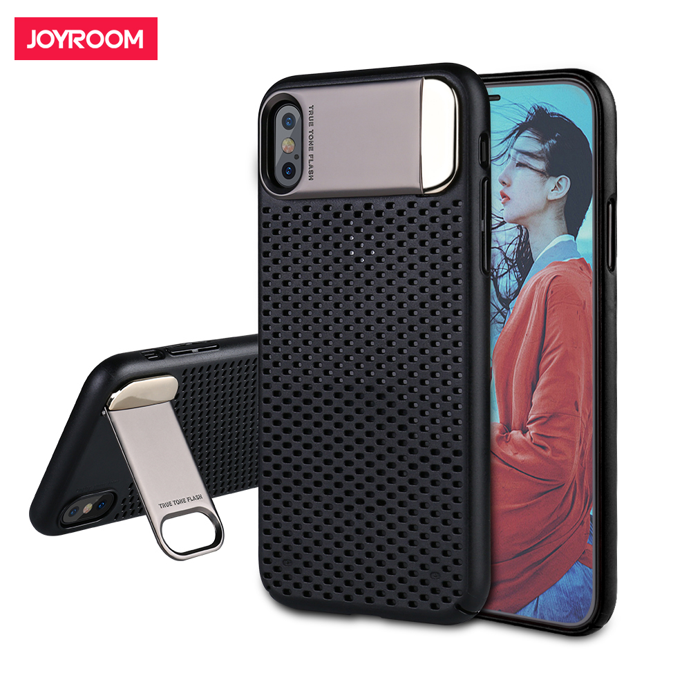 Joyroom Hard Case Için iphone X Lüks PC Hard Case Arka Kapak Kılıf iphone X 10 ile Kaplama Standı